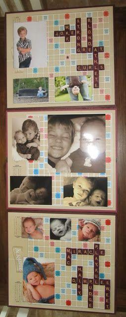 DIY Scrabble frames