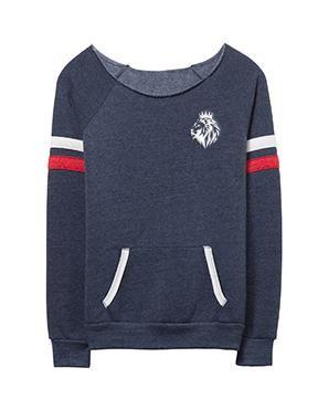 Lion of Judah- Ladies Maniac Eco-Fleece Sport Sweatshirt - Large / Navy
