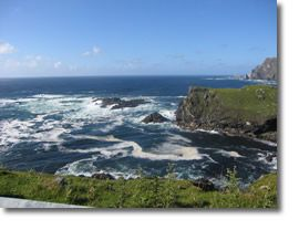Glencolmcille is situated on the Slieve League Peninsula at the south-west point of Donegal