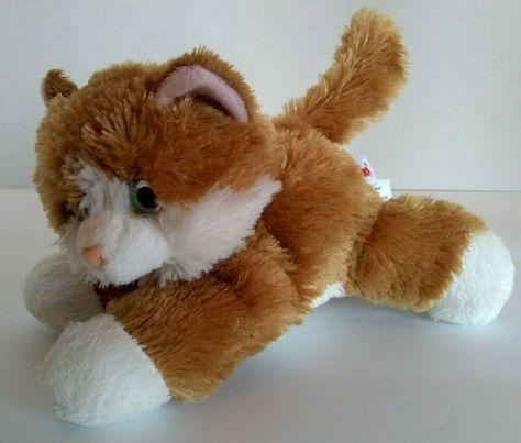 Aurora Cat Orange White Gold Tabby Mini Flopsie 7 Kitten Soft Toy