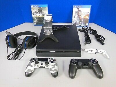 Sony Playstation 4 Ps4 Slim 1tb Console Bundle 2 Controllers 2 Games Ps4 Gaming Video Playstation Sony Playstation Playstation 4