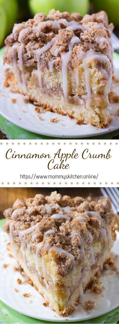 Cinnamon Apple Crumb Cake #desserts #cakerecipe