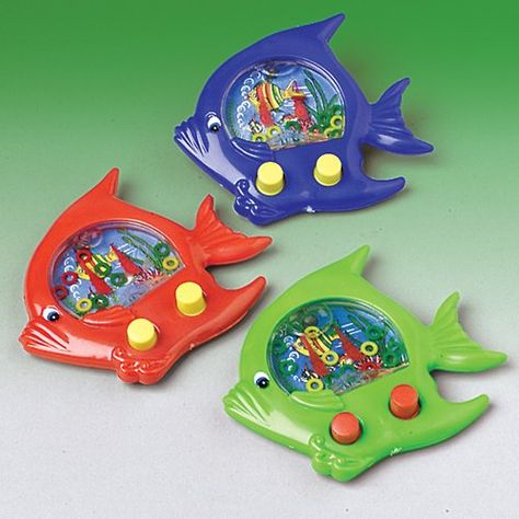 Fish Ring Toss Water Game Description: Here fishy, fishy! This fun fish water game has push buttons to move the rings and comes in assorted colors (yellow, Childhood Memories 90s, Childhood Toys, 1990s Kids, Ring Toss, 90s Toys, Water Games, Water Toys, Old Games, Vintage Toys