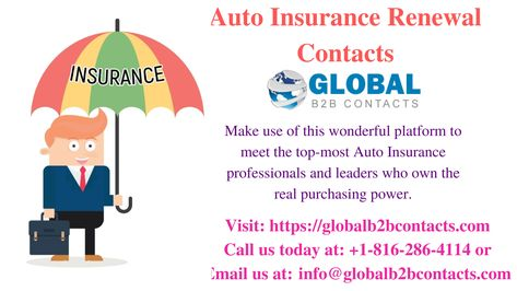 Since Our Auto Insurance Renewals Mailing Lists Are All Updated