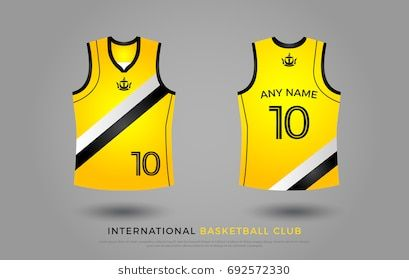 Basketball T Shirt Design Uniform Set Of Kit Basketball Jersey Template Black And Ye Basketball Tshirt Designs Basketball T Shirt Designs Athletic Tank Tops