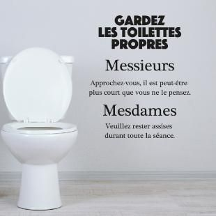 Sticker Citation Wc Gardez Les Toilettes Propres Sticker Citation Citations Wc Toilettes Propres
