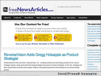 FreeNewsArticles serves up food for Content Marketing | Send2Press Newswire