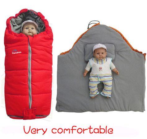 Теплый спальный мешок для новорожденных