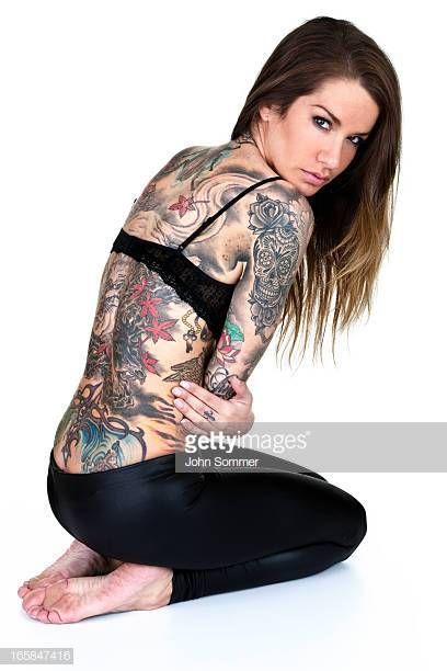 Beautiful Tattooed Woman Isolated On White Background Women Tattoos For Women Beautiful