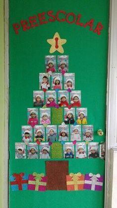 Christmas Tree Classroom Door Decorations Merry And