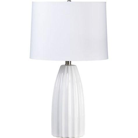 Ella White Ceramic Table Lamp + Reviews | Crate and Barrel