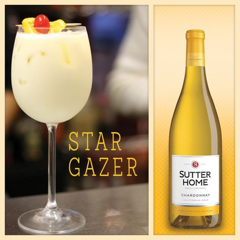 Made with Sutter Home Chardonnay, this indoor wine cocktail evokes the warm glow of the stars.