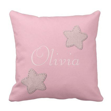 Cute add name stars pink beige pillow baby gifts child new born cute add name stars pink beige pillow baby gifts child new born gift idea diy negle Image collections