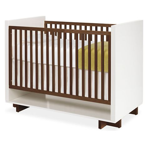 Moda Crib In White Modern Cribs Modern Kids Furniture Modern