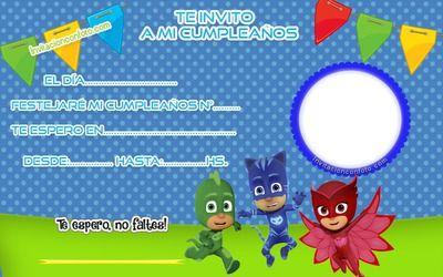Pin About Heroes En Pijamas Cumpleaños Y Tarjetas De