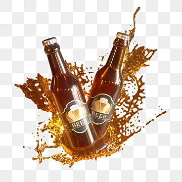 3d Splatter Liquid And Beer Bottle Elements Beer Bottle Clipart Beer Bottle Beer Png Transparent Clipart Image And Psd File For Free Download In 2021 Brown Glass Bottles Beer Bottle Bottle