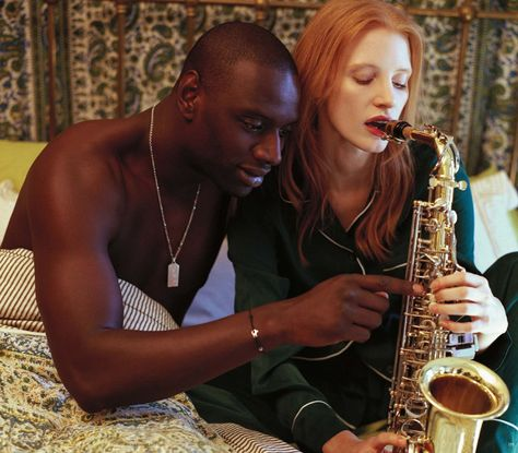 ALL THAT JAZZ: JESSICA CHASTAIN AND OMAR SY BY BRUCE WEBER