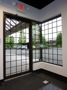 Storefront Window Security Bars, Affordable Basic Design For First Line Of  Defense.