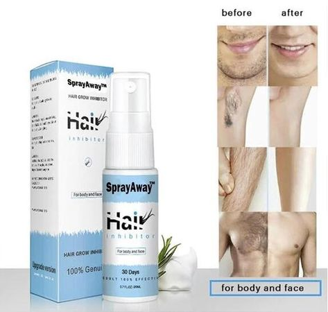 Buy 2 Get Extra 5% OFF (Code: AC5) Removing unwanted body hair need not be expensive and time-consuming. Try our SprayAway™ Hair Removal Spray. It will save you from seeking professional help in getting that silky smooth hairless skin you've always wanted. It is a spray-on hair remover that will effectively and painlessly remove unwanted hairs without leaving bumps, like shaving with a razor would. This Body Hair Removal Spray will make the whole process of removing hair, smooth and inexpensive