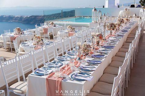 Luxurious Santorini Wedding Event La Maltese Estate Villa Pinterest