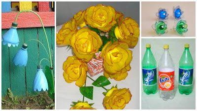 Como Hacer Flores Con Botellas De Plastico