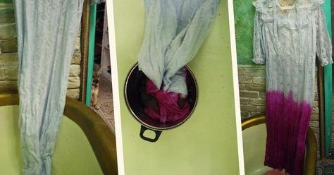 Как перекрасить свадебное платье