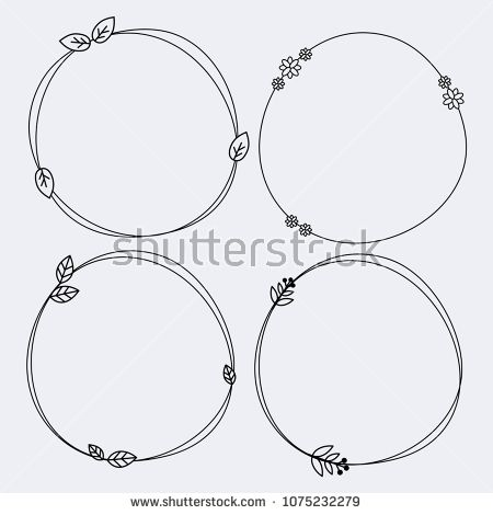 Abstract Art Background Banner Black Border Branch Card Circle Cute Decor Decoration Decorative Design Dood Wreath Drawing Floral Wreath Drawing Drawing Frames