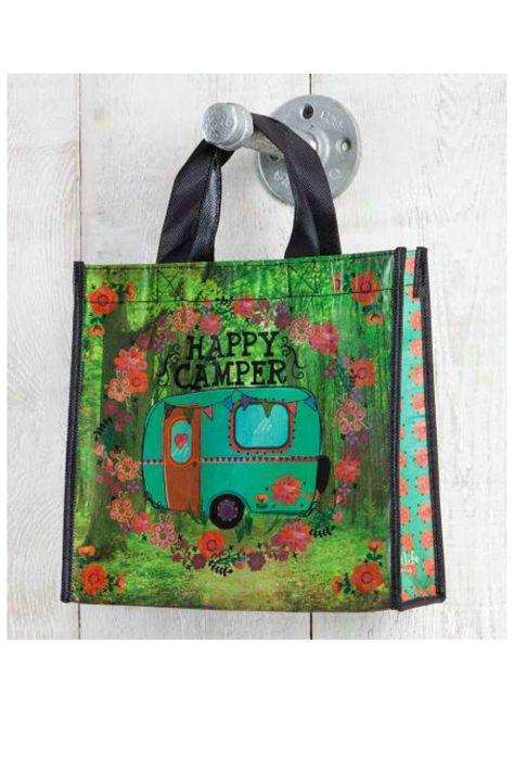 Natural Life Recycled Bag - Happy Camper