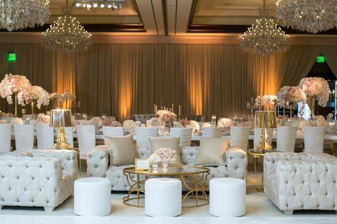 Luxurious White and Gold Wedding Reception in Westlake Village