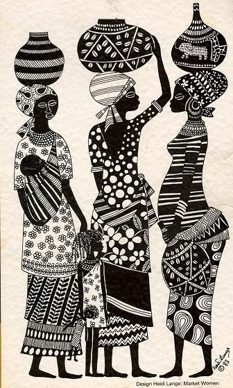 Traditional African Women art. Check out the best places to see African art in NYC at TheCultureTrip.com. Click on the image to view the full list!  # LG Limitless design #Contest (http://womenofworthuganda.wordpress.com/tag/african-volunteers/)