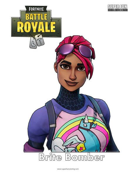 Fortnite Skins Bright Pink Hair Cool Coloring Pages Color