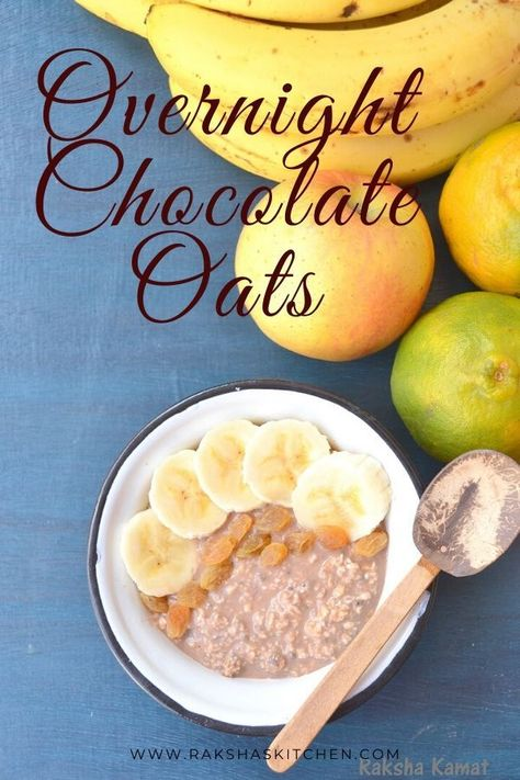overnight chocolate oats is a no cook recipe, overnight chocolate oats healthy recipe too and can be made in a jiffy. The weight watchers chocolate overnight oats is a great recipe for those that are trying to shed some pounds. Overnight chocolate oats in a jar can be made in advance and stored in fridge. chocolate overnight oats no yogurt recipe is best overnight oats recipe. #overnightoats #overnightchocolateoats #chocolateovernightoats #oats #weightlossrecipe #chocolateoats #breakfastrecipe