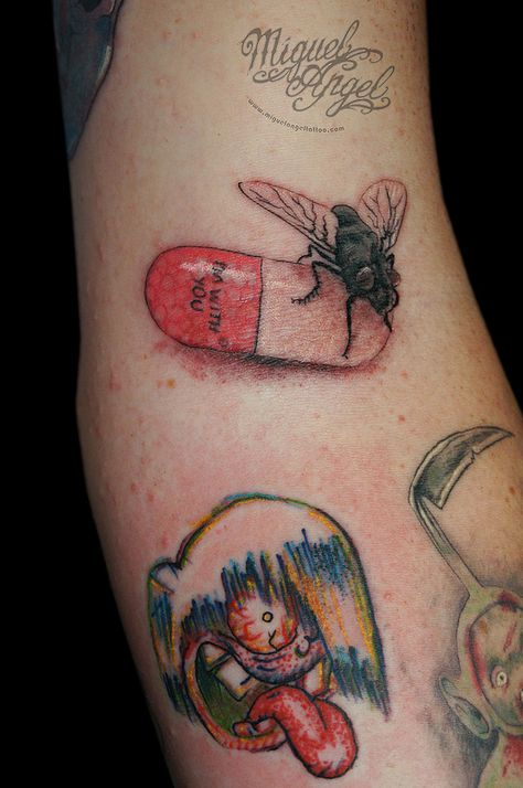 Red Hot Chilli Peppers albums art tattoo