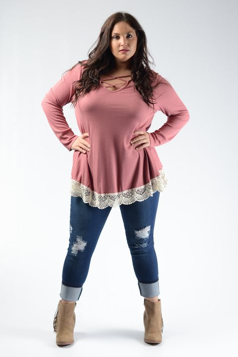 Pink Crochet Hem Top