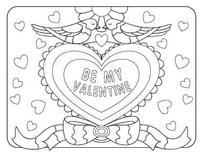 Happy Valentine S Day Coloring Book For Adults Kids 50 Printable Coloring Pages Valentine S Day Coloring Pages Pdf Instant Download In 2021 Valentine Coloring Pages Valentines Day Coloring Valentines Day Coloring Page
