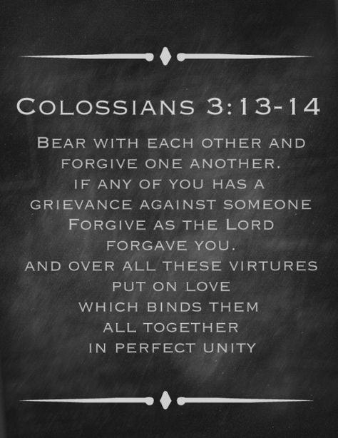 Colossians 3:13-14 Printable