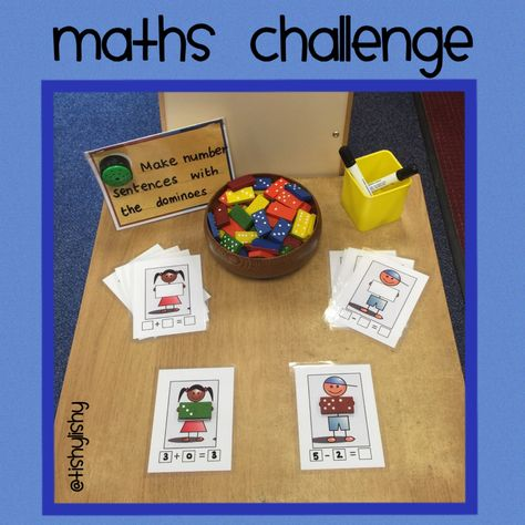 Maths challenge using dominoes. Adding girl and subtraction boy. Download https://www.dropbox.com/sh/yixk8ezhmjw5eh4/AACKMp6l2Q6kTMWTYFtfjpxIa?dl=0