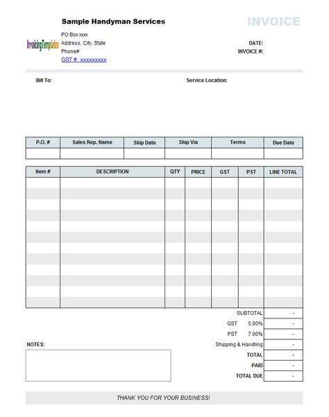 polaris office invoice template