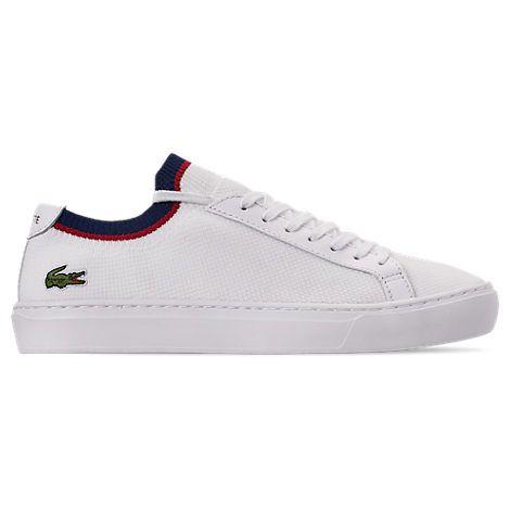Lacoste Pique Knit Sneaker In White