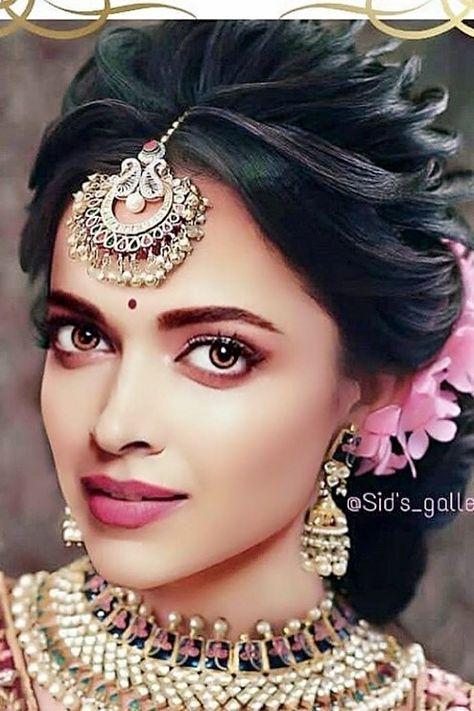 26 Ideas For Hairstyles Bun Deepika Padukone Bridal Hair Buns Engagement Hairstyles Indian Bridal Hairstyles