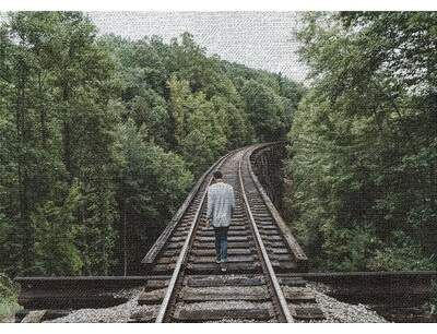 East Urban Home Train Experience Green Area Rug Back On Track Visual Writing Prompts Train Tracks