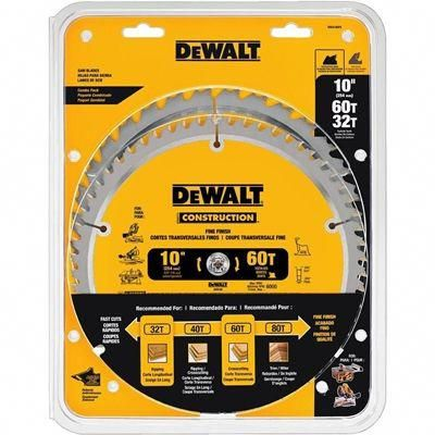 Dewalt Circular Saw Blade Dw3106p5 Construction 10 Ins 2 Pack Mitersaw Table Saw Blades Table Saw Circular Saw Blades