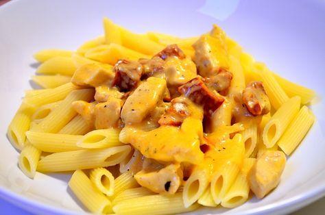 Pasta Med Kyckling Och Soltorkade Tomater Mat Recept Och Kyckling