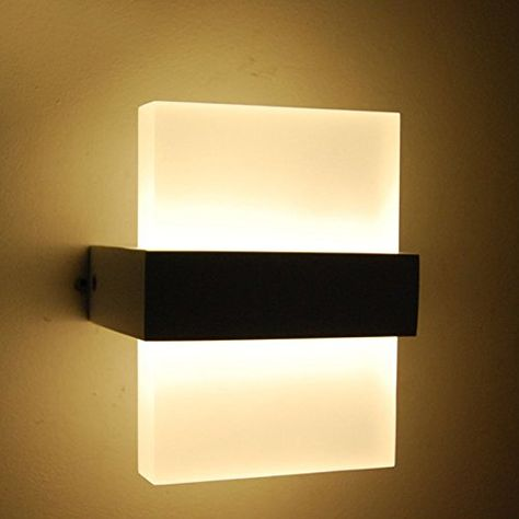 Cmyk 6w Indoor Led Wall Lights With Aluminum And Acrylic Ip20 Ac85 265v Warm White Cmyk Http Www Amazon Co Wall Lights Led Wall Lights Bedside Wall Lights