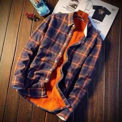 YYear Mens Cotton Casual Flannel Long Sleeve Flannel Plaid Shirts