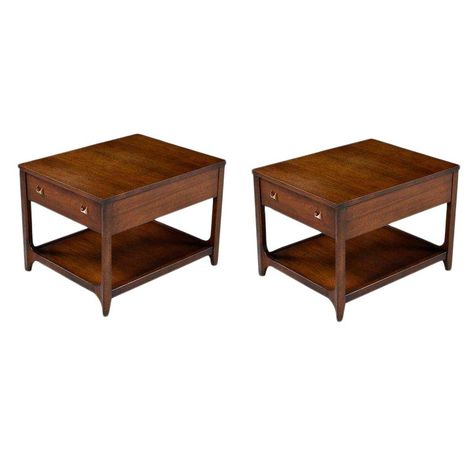 Broyhill Brasilia Chairside Tables 6151 09 Pair End Tables