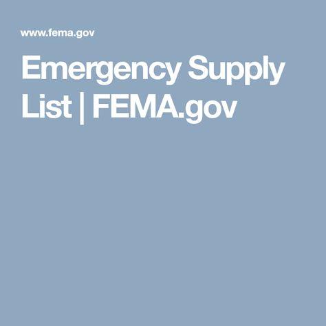 The  Best Emergency Supplies List Ideas On
