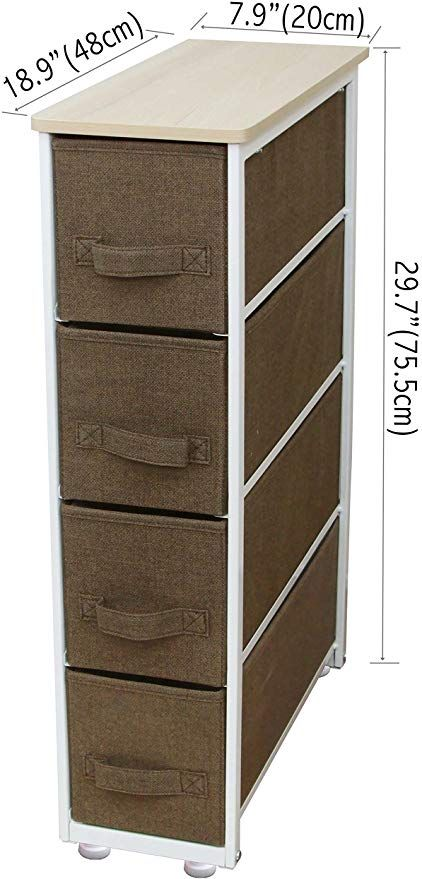 Itidy Narrow Storage Drawers Dresser Chest Of Drawers Narrow 4 Drawer Organizer Multi Purpose Narrow Stor Fabric Drawers Narrow Storage Cabinet Storage Drawers