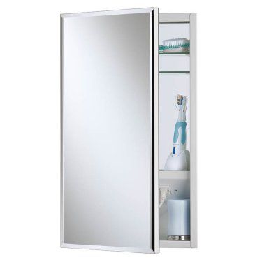 Broan Nutone Premier Expressions Meridian Collection Recessed Electrical Medicine Cabinet 15w X 25h In Recessed Medicine Cabinet Broan Beveled Mirror