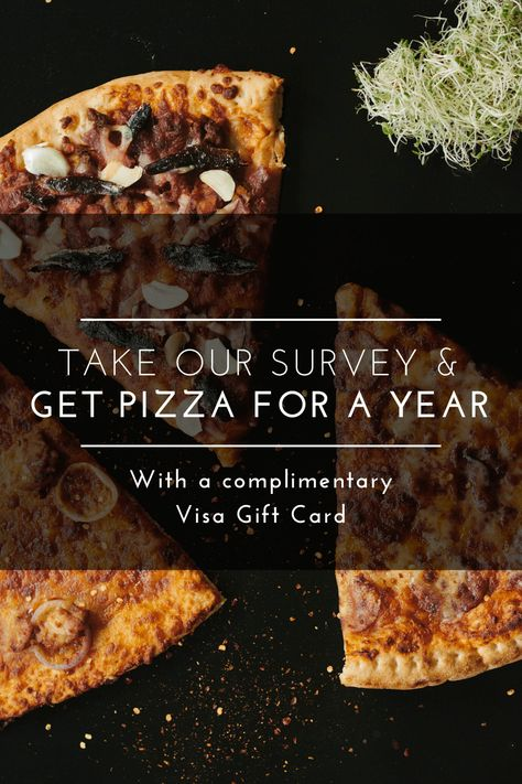 Get Pizza Gift Card For A Year With A Complimentary Visa Gift Card Take Our Survey Get Pizza For A Year Papa Jo In 2020 Delicious Pizza Recipes Foods To